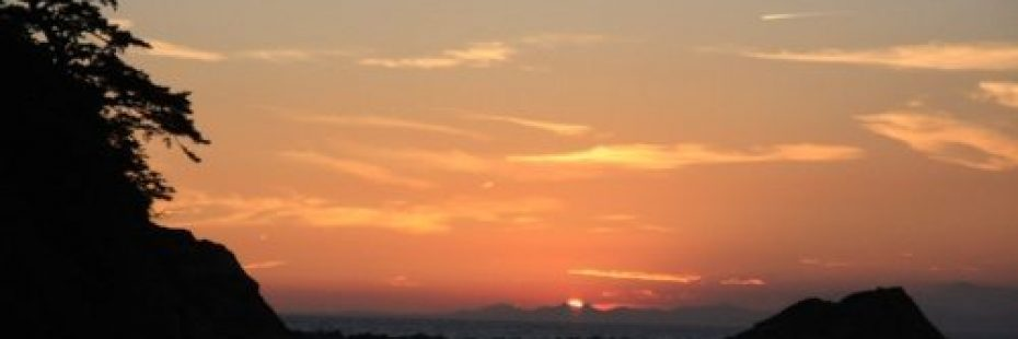 sunset onsen view
