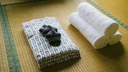 yukata and towels