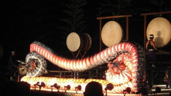 taiko festival dragon dance