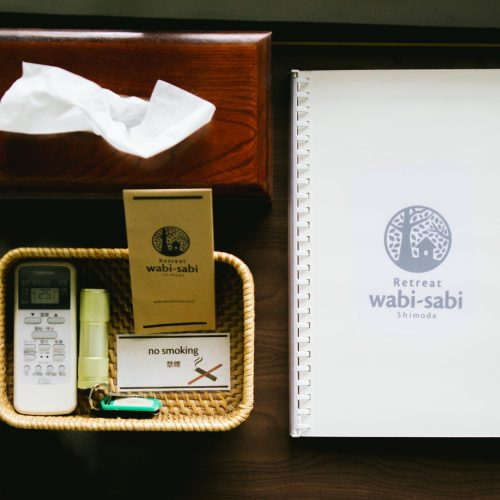 Retreat wabi-sabi guestroom supplies