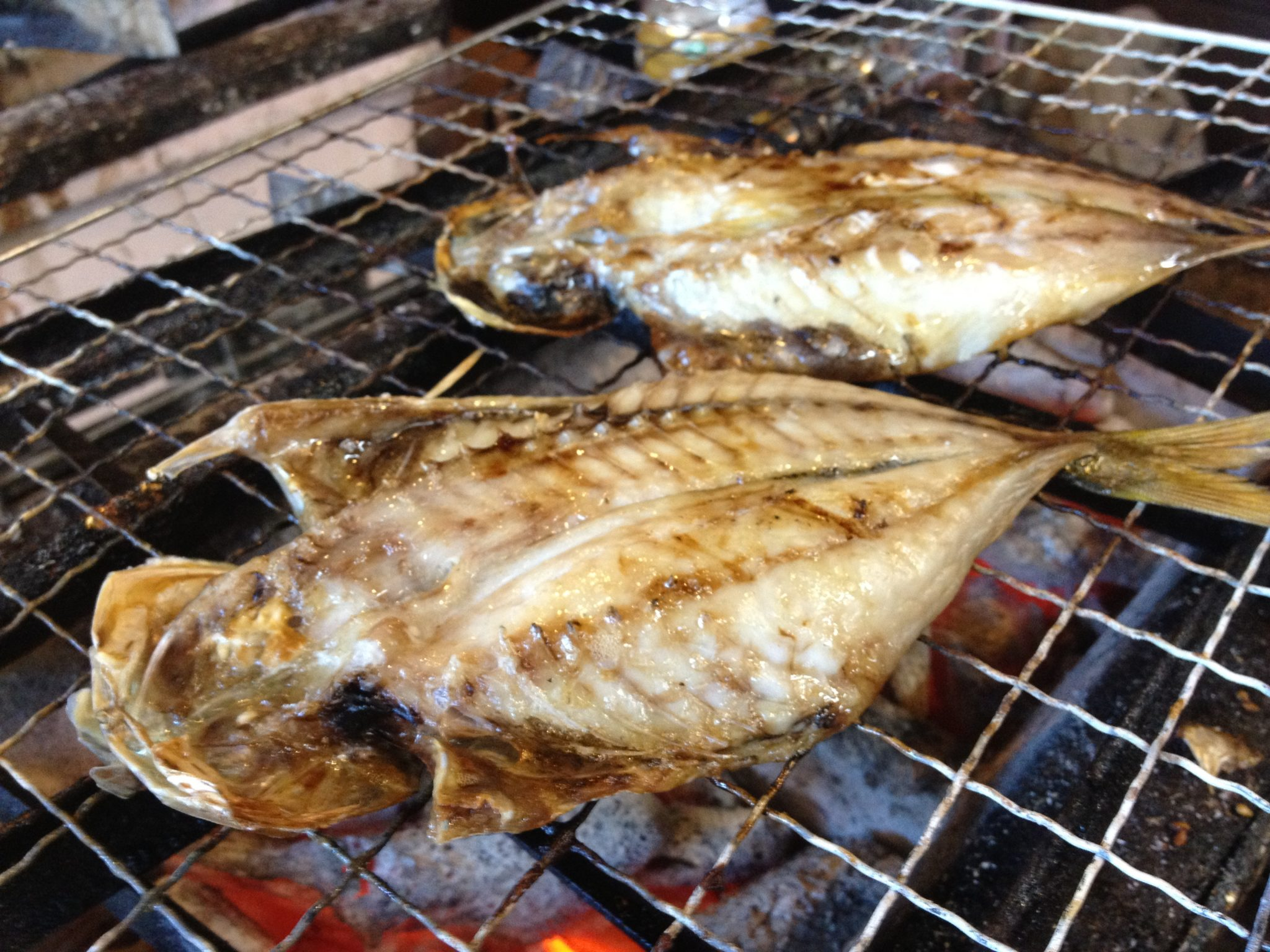 Himono on the grill at mampo