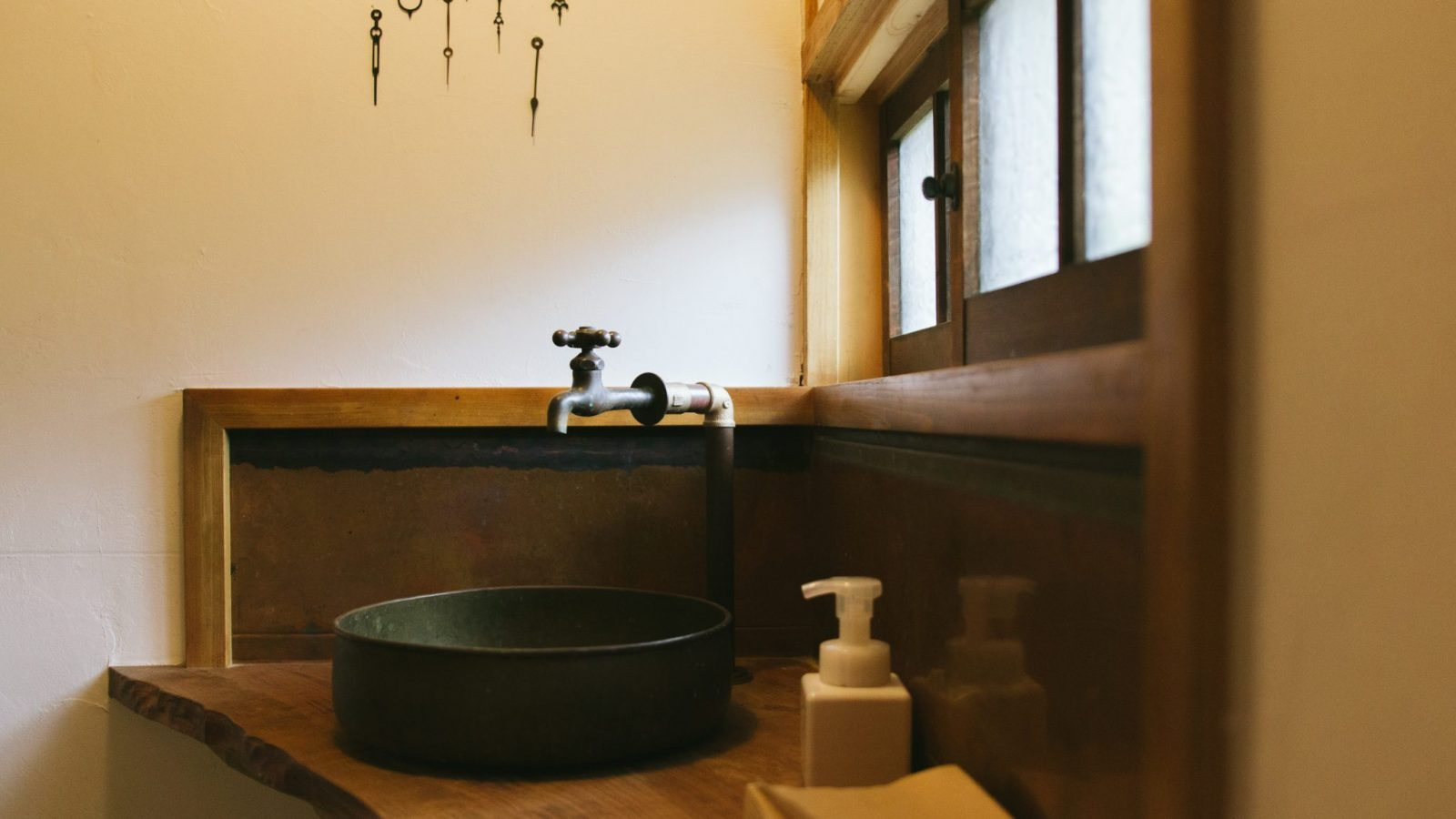 The Cafe sink at retreat wabi-sabi