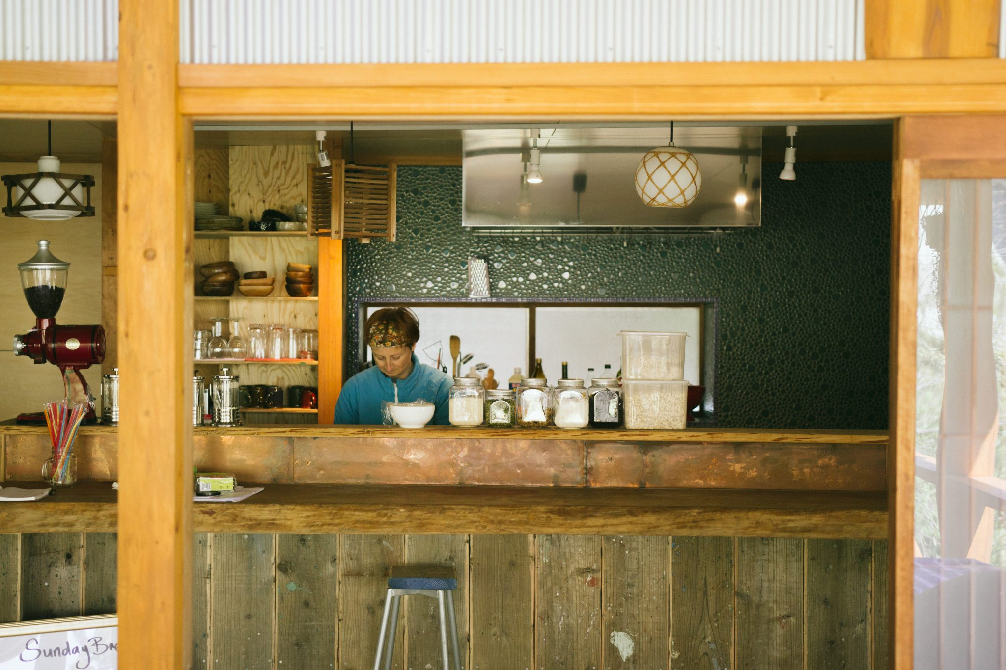 The cafe counter at retreat wabi-sabi