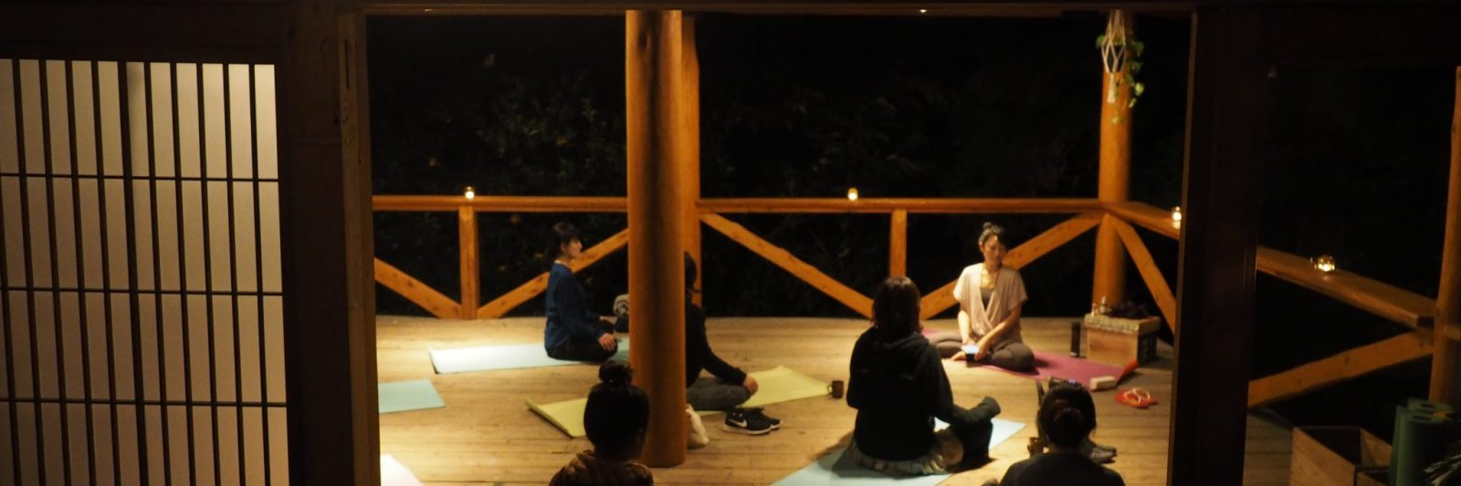 yoga at retreat wabi-sabi shimoda izu