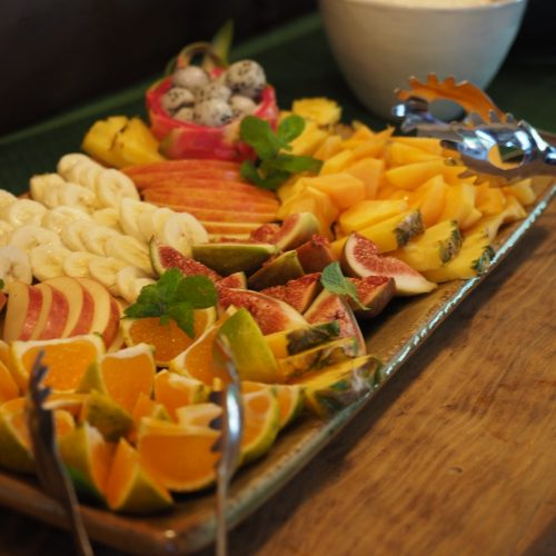 fresh fruit at breakfast buffet