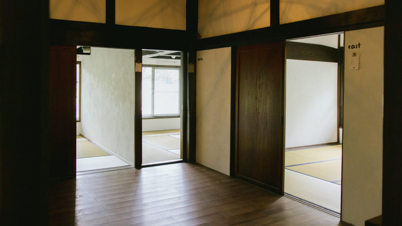 All private rooms are on the 2nd floor of the guesthouse at Retreat wabi-sabi