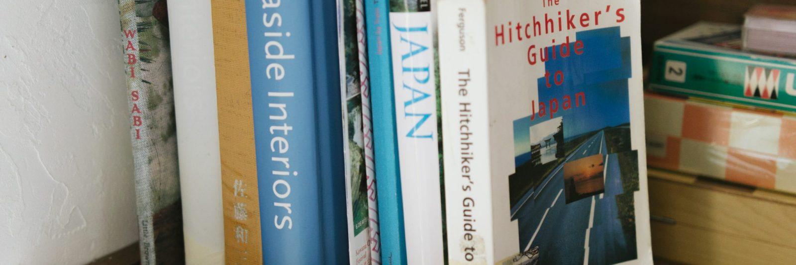 Book about Japan at Retreat wabi-sabi's guesthouse