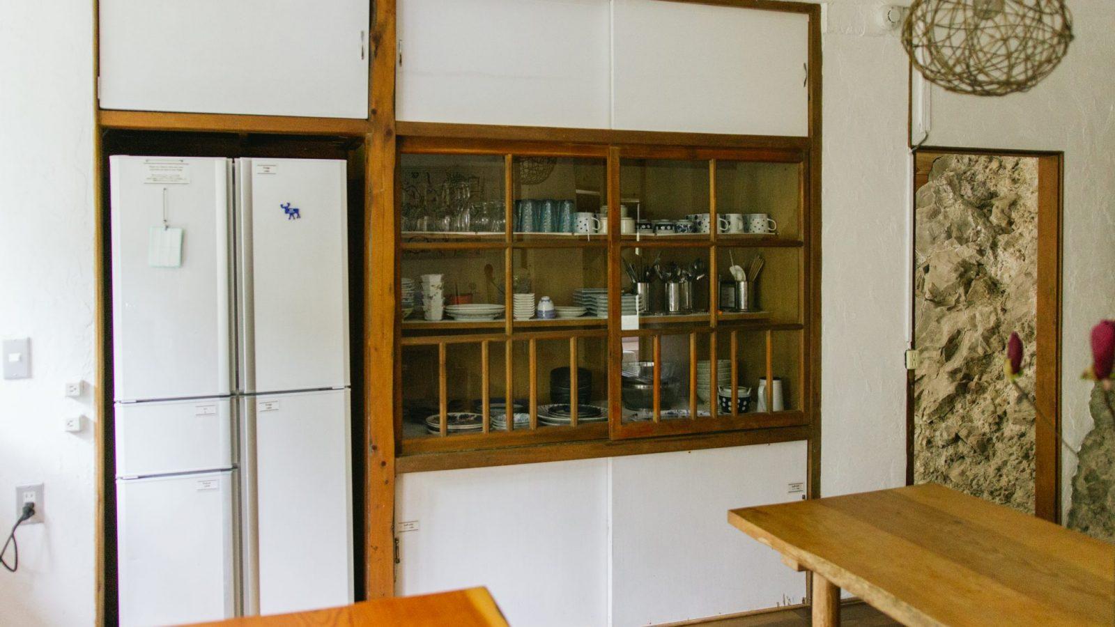 Communal kitchen at Retreat wabi-sabi Kisami Shimoda