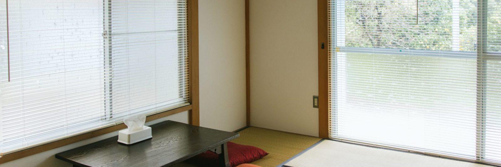 Japanese living room at coya cottage rental house shimoda