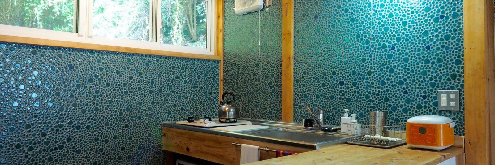 Oku Cottage Kitchen rental house shimoda