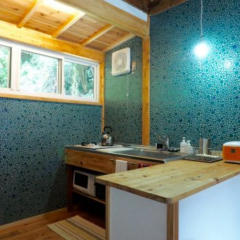 Oku Cottage Kitchen rental house shimoda